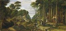 Pilgerzug im Walde