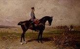 Kaiser Franz Josef I. von Österreich zu Pferde