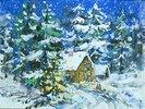 Waldschenke südlich von München in der Weihnachtszeit