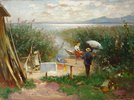 Maler am Chiemsee-Ufer