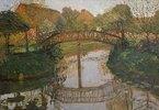 Bauerngarten mit Brücke