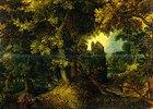 Waldlandschaft mit der Verstoßung Hagars und Ismaels