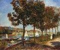 Herbst an der Brücke von Argenteuil