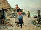 Fischer, mit ihren Netzen nach dem Fang heimkehrend