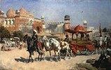 Prozession vor der Jama Masjid Moschee in Agra