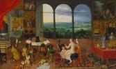 Allegorie des Gehörs. (Ausgeführt mit Peter Paul Rubens)
