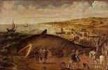 Ein Wal, 1617 zwischen Scheveningen und Katwijk gestrandet