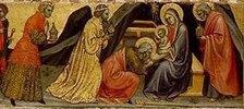 Die Anbetung der Könige. Detail Mitte