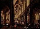 Das Innere der Kathedrale von Antwerpen. (Staffage von Frans Francken III.)