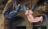 Zwei Engel, Detail aus der Anbetung der Könige