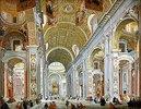 Inneres der Basilika die San Pietro in Rom