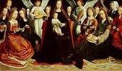 Madonna, umgeben von Heiligen