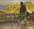 Friedrich III. und seine Gemahlin auf der Terrasse der Villa Carnavon