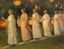 Gartenfest. Der Lampion-Umzug
