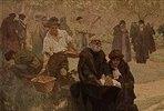Der Blinde mit der Bibel. Detail aus dem Gemälde Der Druck der Bibel von