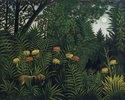Urwald mit Tiger und Jägern