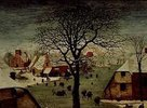 Die Volkszählung zu Bethlehem. 1566. Detail links oben (Baumkrone und rote