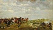 Napoleon III. in der Schlacht von Solferino 1859.