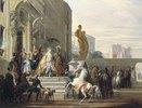 Dido, Aeneas und Ascanius auf dem Weg zur Jagd