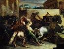 Wilde Pferde bei einem Rennen in Rom