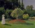 Dame im Garten