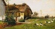 Bauernhof mit Storchennest