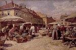 Markttag in einer altösterreichischen Kleinstadt