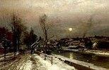 Partie in der Au zu München im Winter