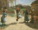 Seilspringende Kinder