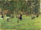 Spielende Kinder im Park