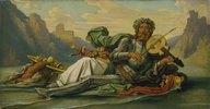 Vater Rhein spielt die Fiedel Volkers. (60-er Jahre)