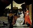 Musikalische Gesellschaft auf einer Terrasse in Amsterdam
