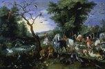 Der Einzug der Tiere in die Arche Noah