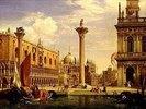 Ansicht der Piazzetta und Piazza di S.Marco in Venedig