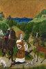Die Bekehrung des heiligen Hubertus. Altarflügel des Altar von Werden