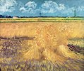 Weizenfeld mit Garben,  Wheatfield with Sheaves