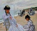 Auf dem Strand von Trouville