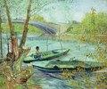 Angeln im Frühling. Pont de Clichy