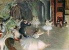 Ballettprobe auf der Bühne