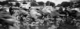 Radfahrer in Peking