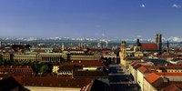Stadtpanorama von München, Oberbayern, Bayern, Deutschland