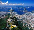 Look at Corcovado with Christ's statue and sugar loaf, Rio de Janeiro, Brazil