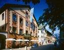 Historische Ludwigstraße in Garmisch-Partenkirchen, Oberbayern, Bayern, Deutschland
