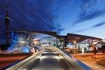 BMW Welt mit Fernsehturm in München, Oberbayern, Bayern, Deutschland