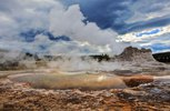 Castle Geyser im Upper Geyser Basin, Yellowstone Nationalpark, Wyoming, USA