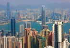 Blick vom Victoria Peak über die Stadt, Hongkong, China