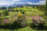 Blumengarten am Kloster Höglwörth, Oberbayern