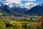 Blick nach Oberstdorf, Allgäu, Deutschland
