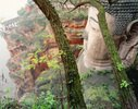 The Giant Buddha of Leshan, the largest buddha in the world carved on Emei Shan (sacred mount), Sichuan, China
