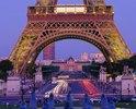 Tour Eiffel, Champ De Mars, Ecole Militaire, Paris, Ile-de-France, Frankreich